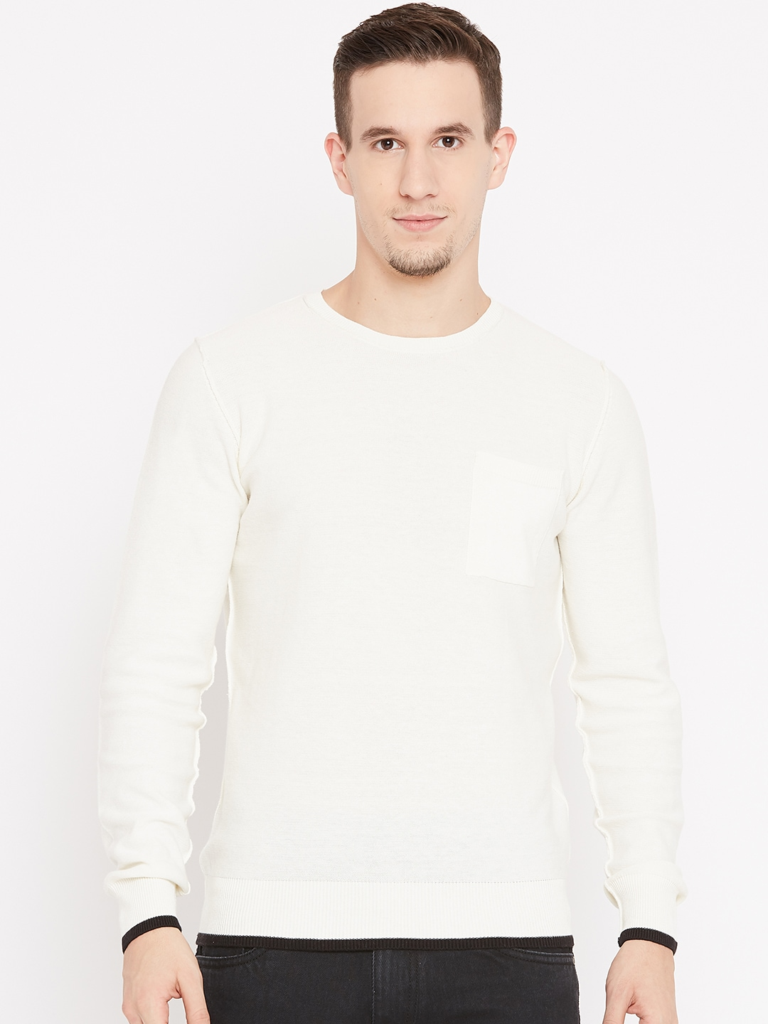 Buy Esprit Men Off White Cable Knit Sweater Sweaters For Men