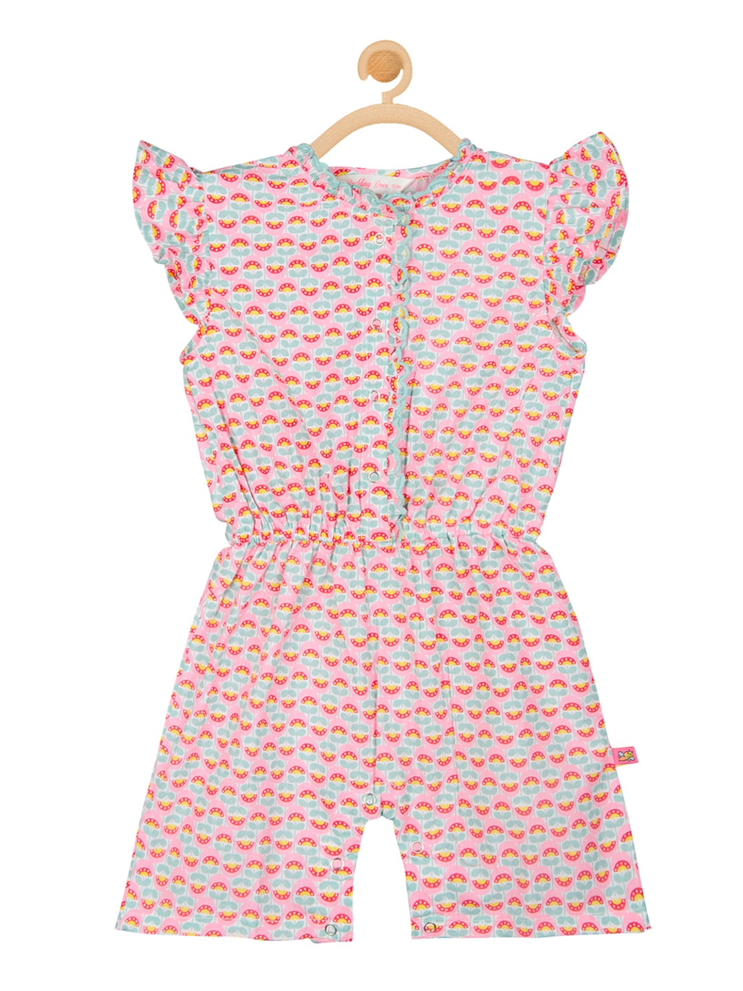 493439000f5 Buy Nauti Nati Girls Lime Green Floral Print Playsuit - Jumpsuit for ...