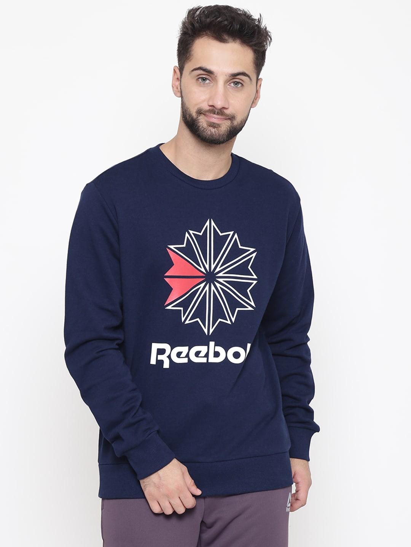 032fc5cc17a Buy Reebok Classic Men Black ICONIC Printed Sweatshirt - Sweatshirts ...