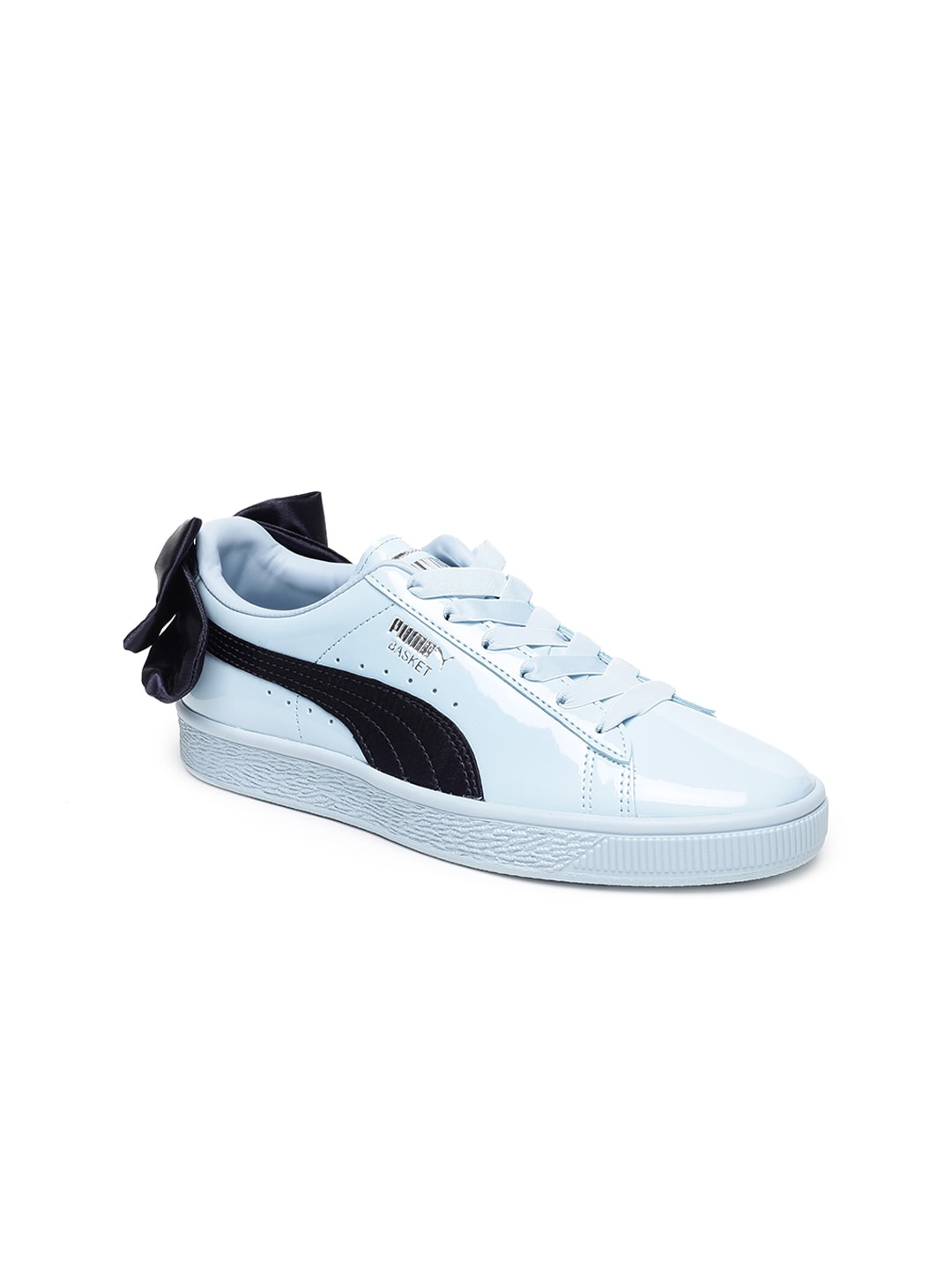 72687accfde Puma Basket Bow Patent Jr Blue Sneakers for girls in India - Buy at ...