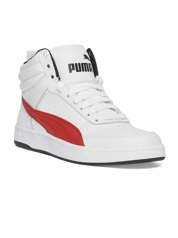 3a792a87fda1 ... Puma Boys White Rebound Street v2 L Junior Sneakers many styles b0f45  f1264 ...