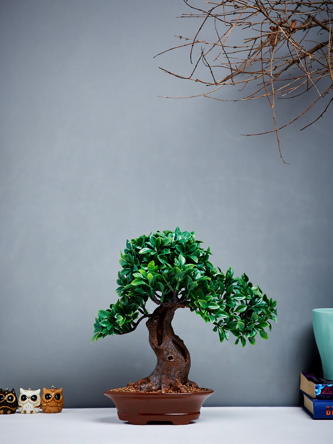 2ab0fba2e06 Buy OddCroft Green   Brown Artificial Bonsai Tree With Pot ...