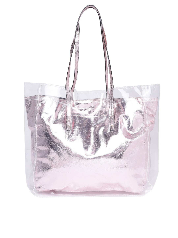 4d3c6bbc3fd Buy ALDO Pink & Transparent Textured Shoulder Bag - Handbags for ...