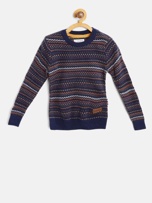 6c6319694 Buy U.S. Polo Assn. Kids Boys Multicoloured Fair Isle Sweater ...