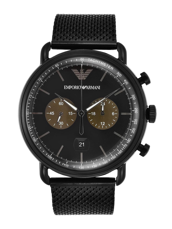 cc7b1070d10 Buy Emporio Armani Men Black Dial Chronograph Watch AR1400I ...