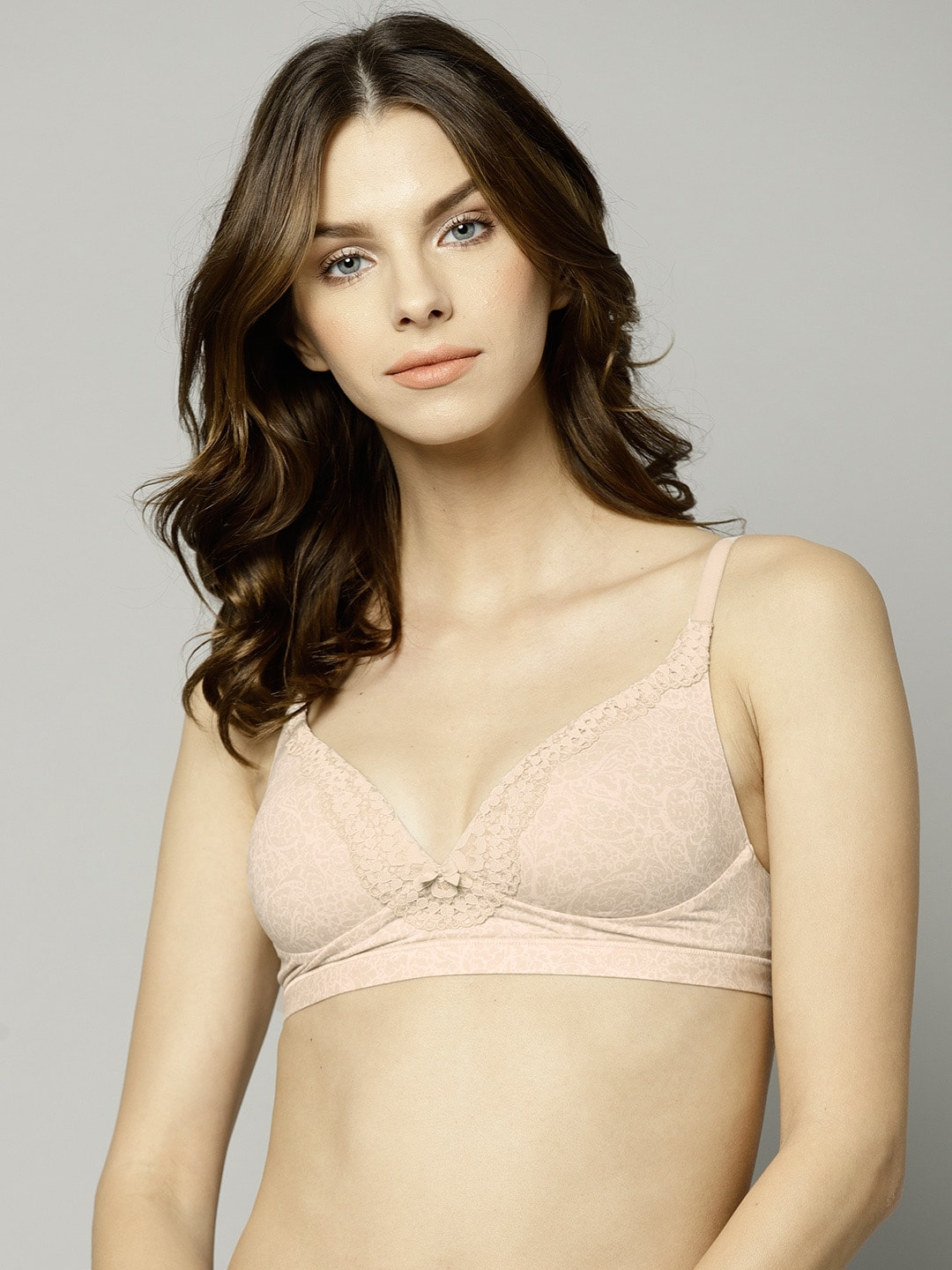 9f0bbe1248cad Buy Marks   Spencer Beige Solid Non Wired Non Padded Everyday Bra ...