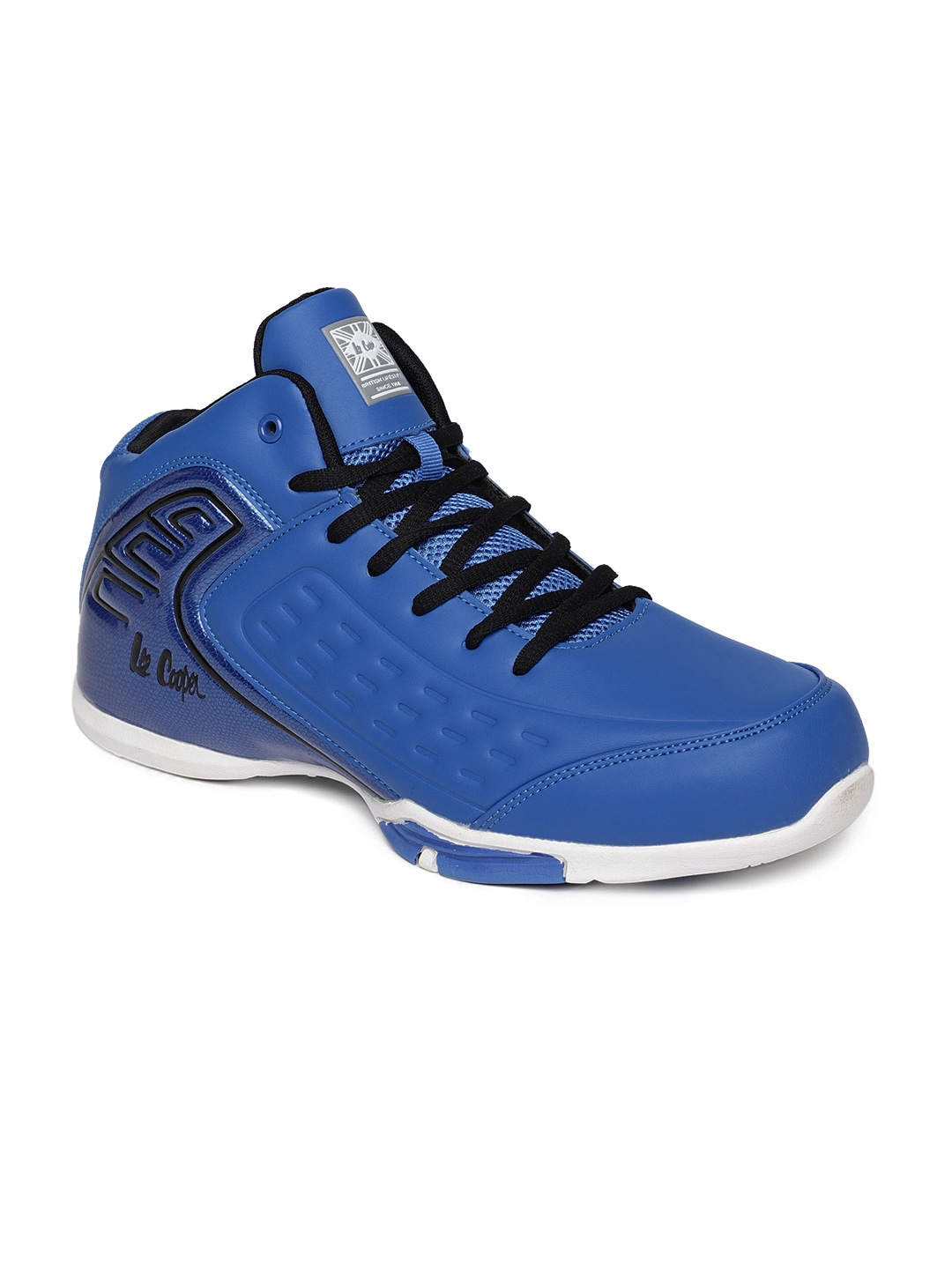 b0eaff799edd Buy Lee Cooper Men White LC3665 Mid Top Basketball Shoes - Sports ...