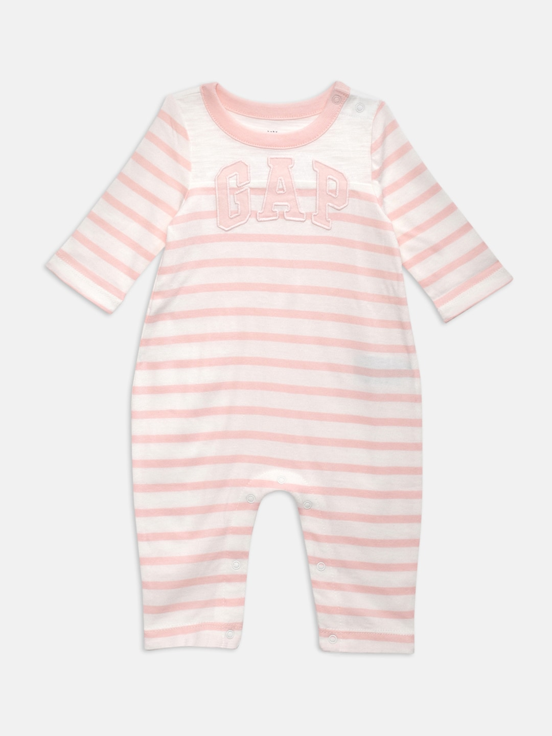 aa2e9ee92 Buy GAP Baby Girls' Off White Love Stripe One Piece Romper - Rompers ...