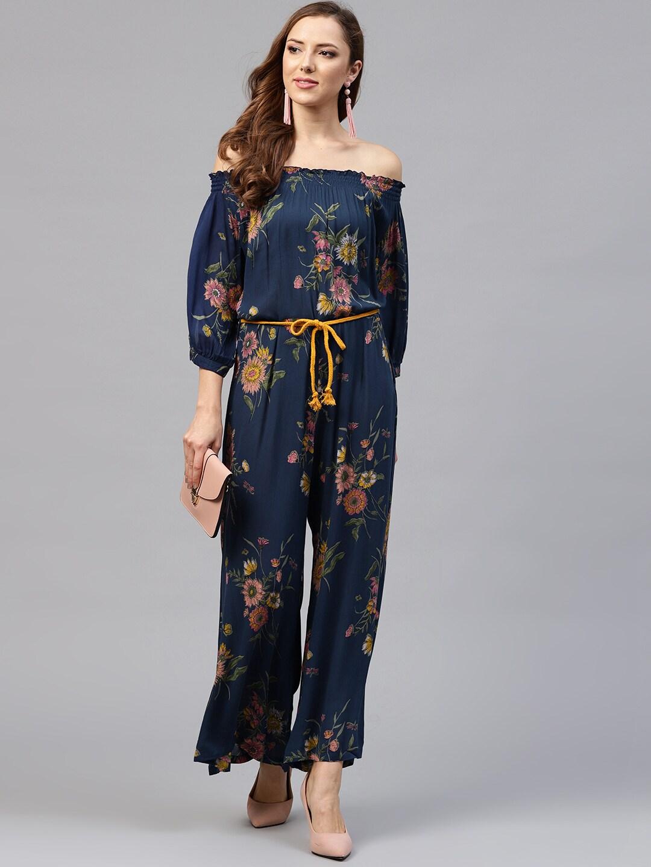 cf10de914590 Buy Yufta Burgundy Solid Culotte Jumpsuit With Ethnic Jacket ...