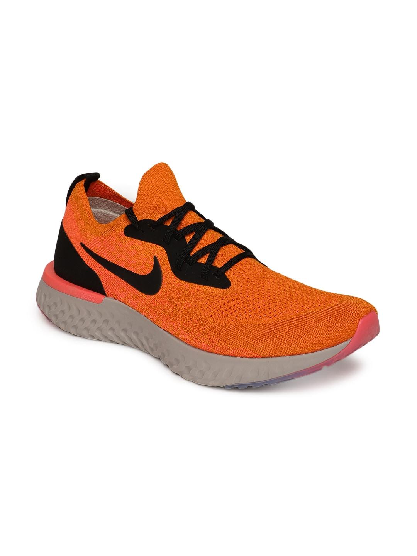 edf35139fe6 Buy Nike Men Black EPIC REACT FLYKNIT Running Shoes - Sports Shoes ...