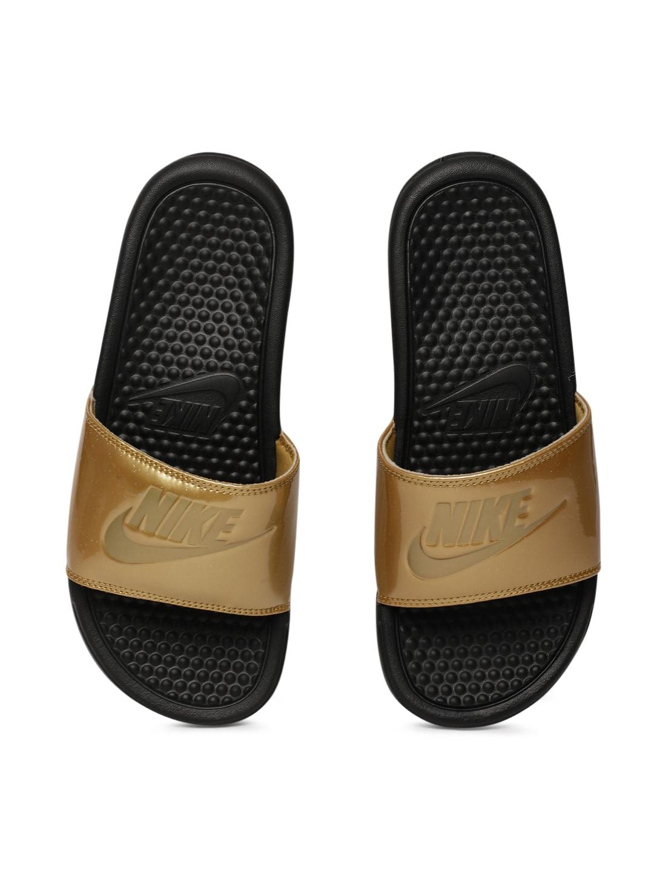 51663e13d48e Buy Nike Women Black   White Printed Sliders WMNS BENASSI JDI PRINT ...