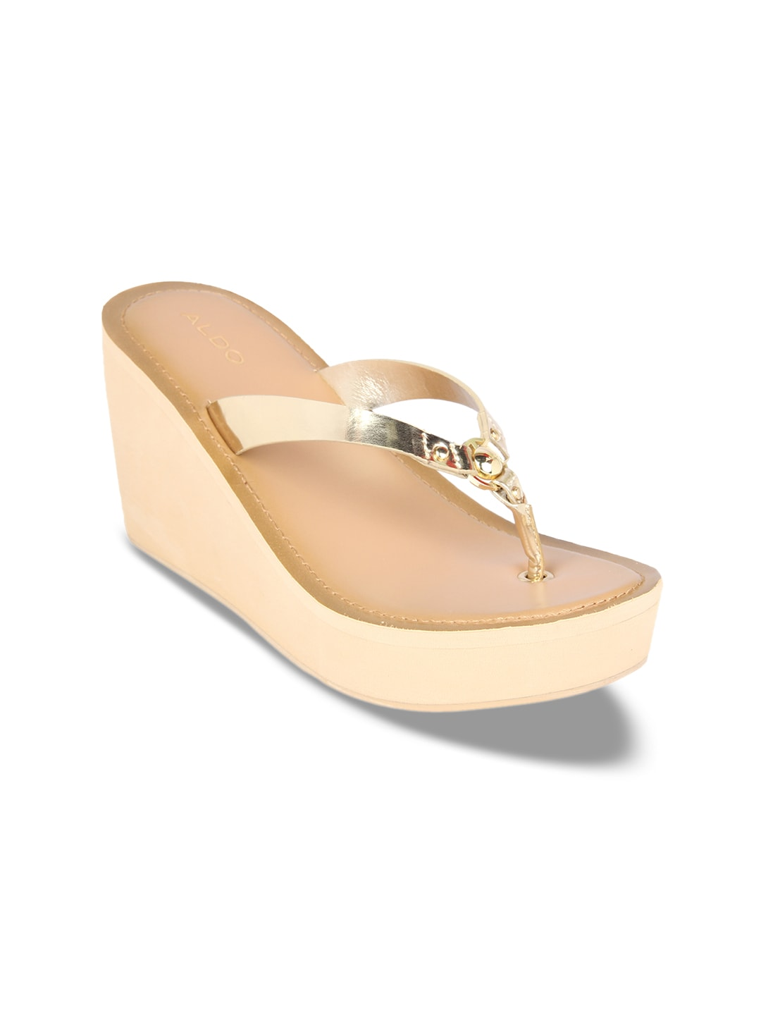 60bb6824329 Aldo Thirenna Golden Sandals for women - Get stylish shoes for Every ...