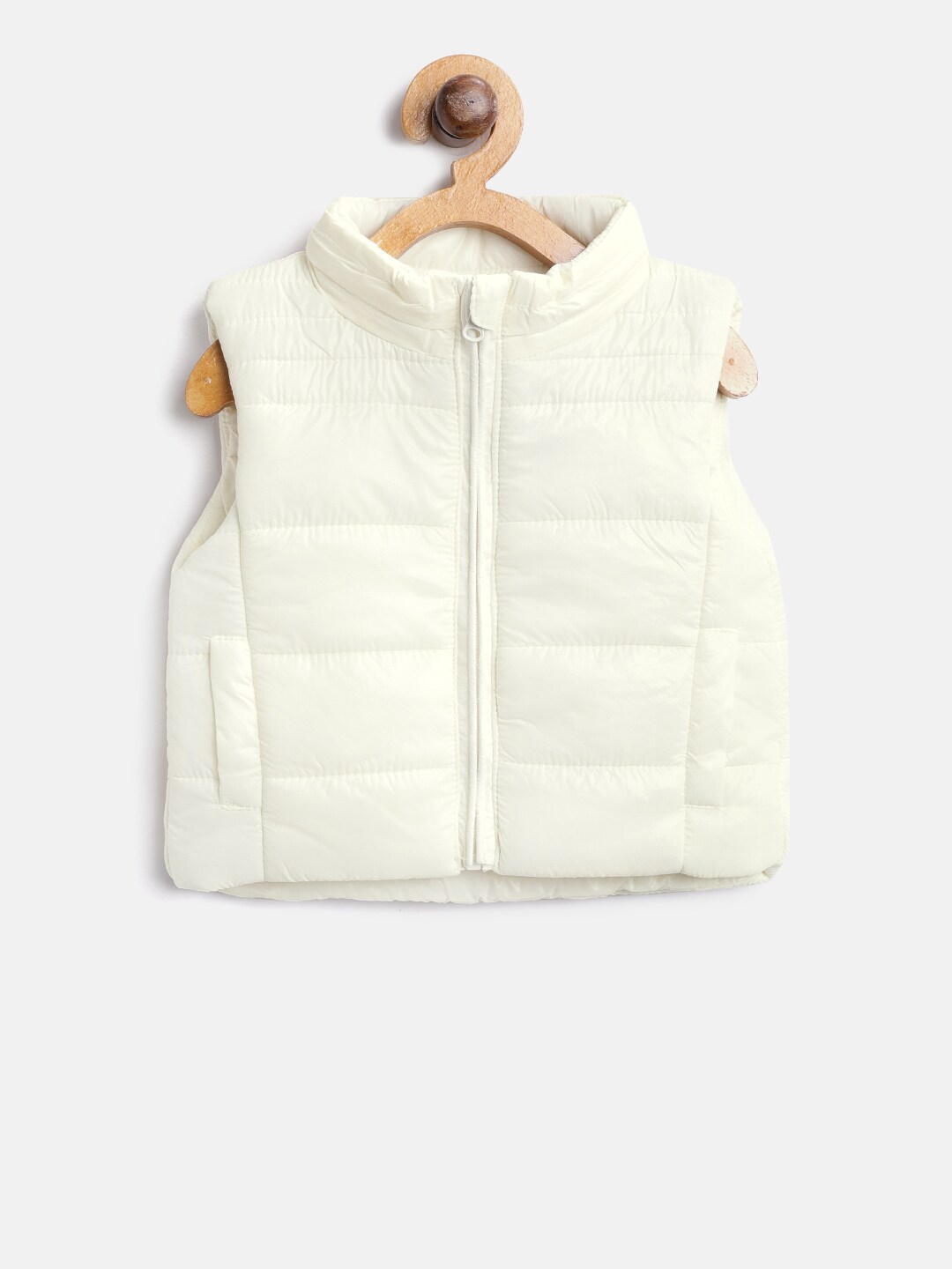 4da27a04b Buy GAP Baby Girls  Chambray Jersey Lined Vest - Jackets for Girls ...