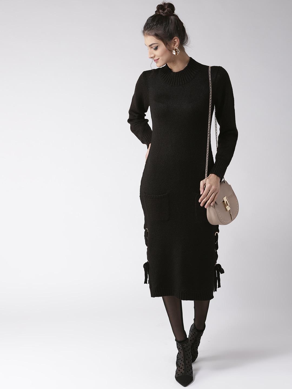 6d0b026fca Buy LOVE GEN Women Navy Blue Solid Sweater Dress - Dresses for Women ...