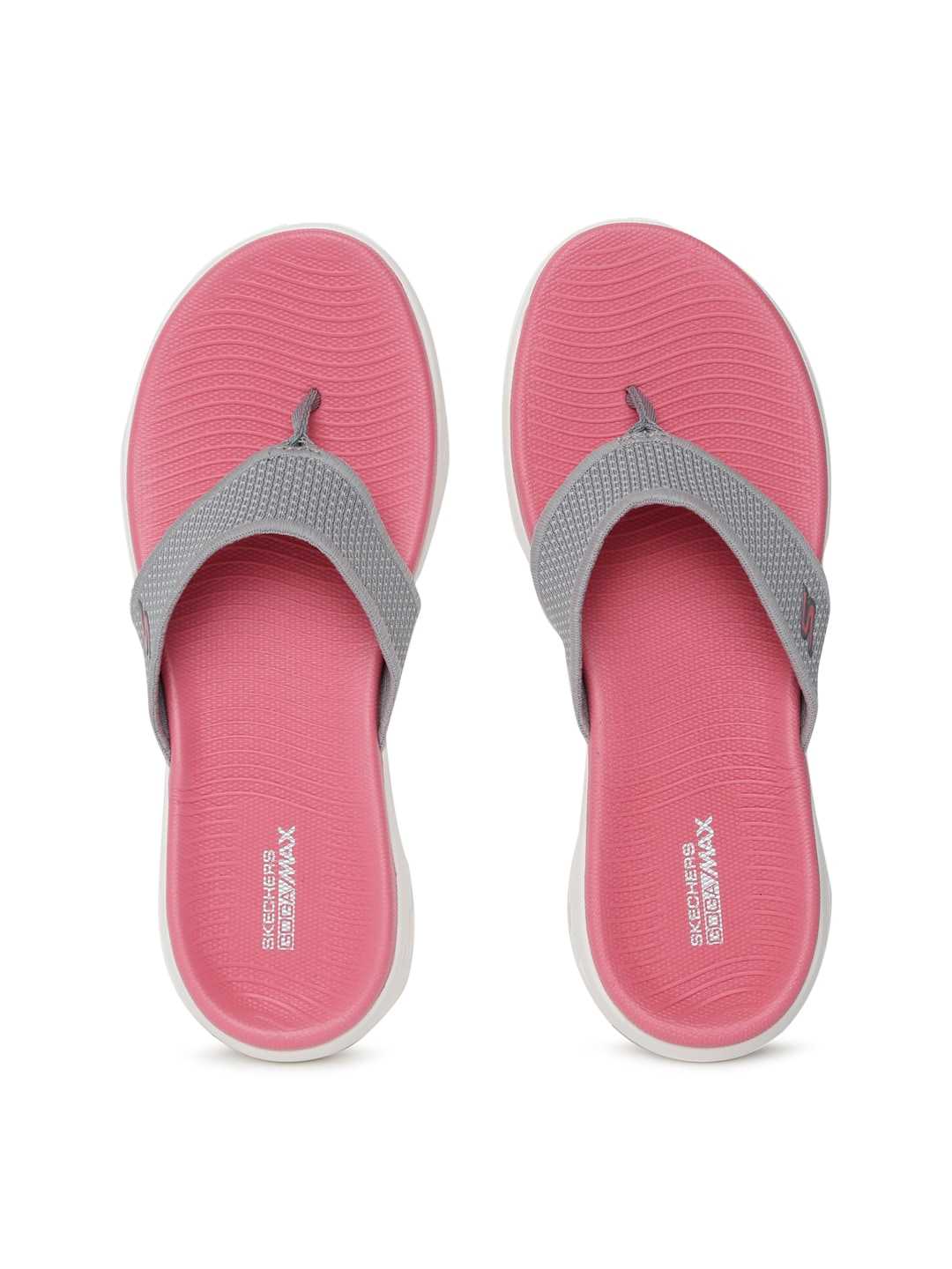 450f2d0cf7c4 Skechers On The Go Flow GREY FLIP FLOPS for women - Get stylish ...