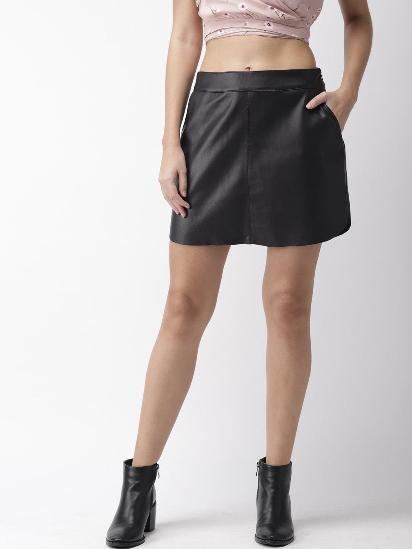 14ce371dd71 Buy FOREVER 21 Black Faux Leather Mini Skirt - Skirts for Women ...
