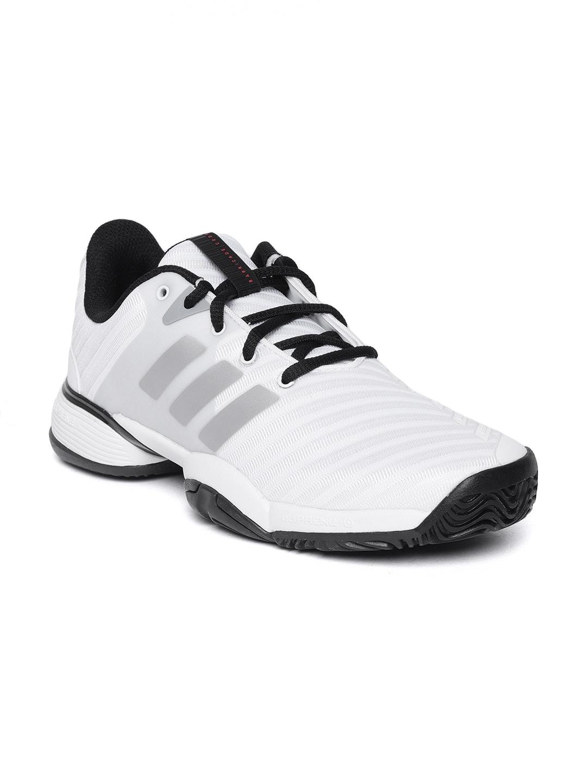 Buy ADIDAS Unisex White Badminton Shoes - Sports Shoes for Unisex ... 7f84ec270