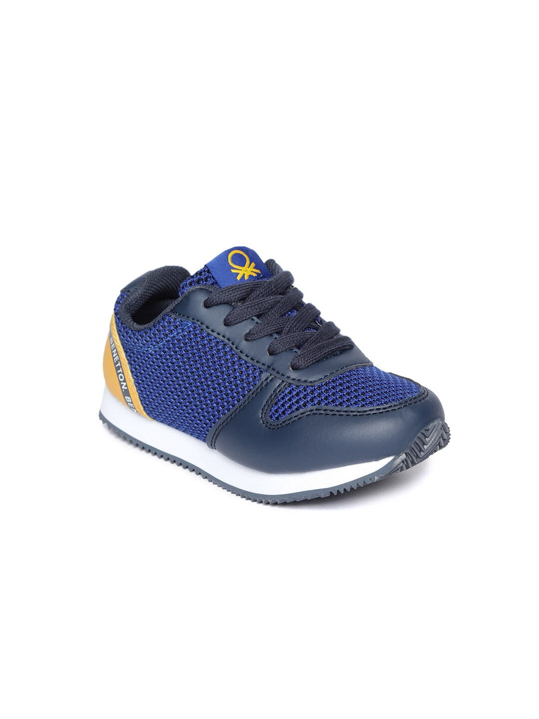 d991f5c0e84 United Colors Of Benetton Mesh And Pu Navy Blue Sneakers for Boys in ...