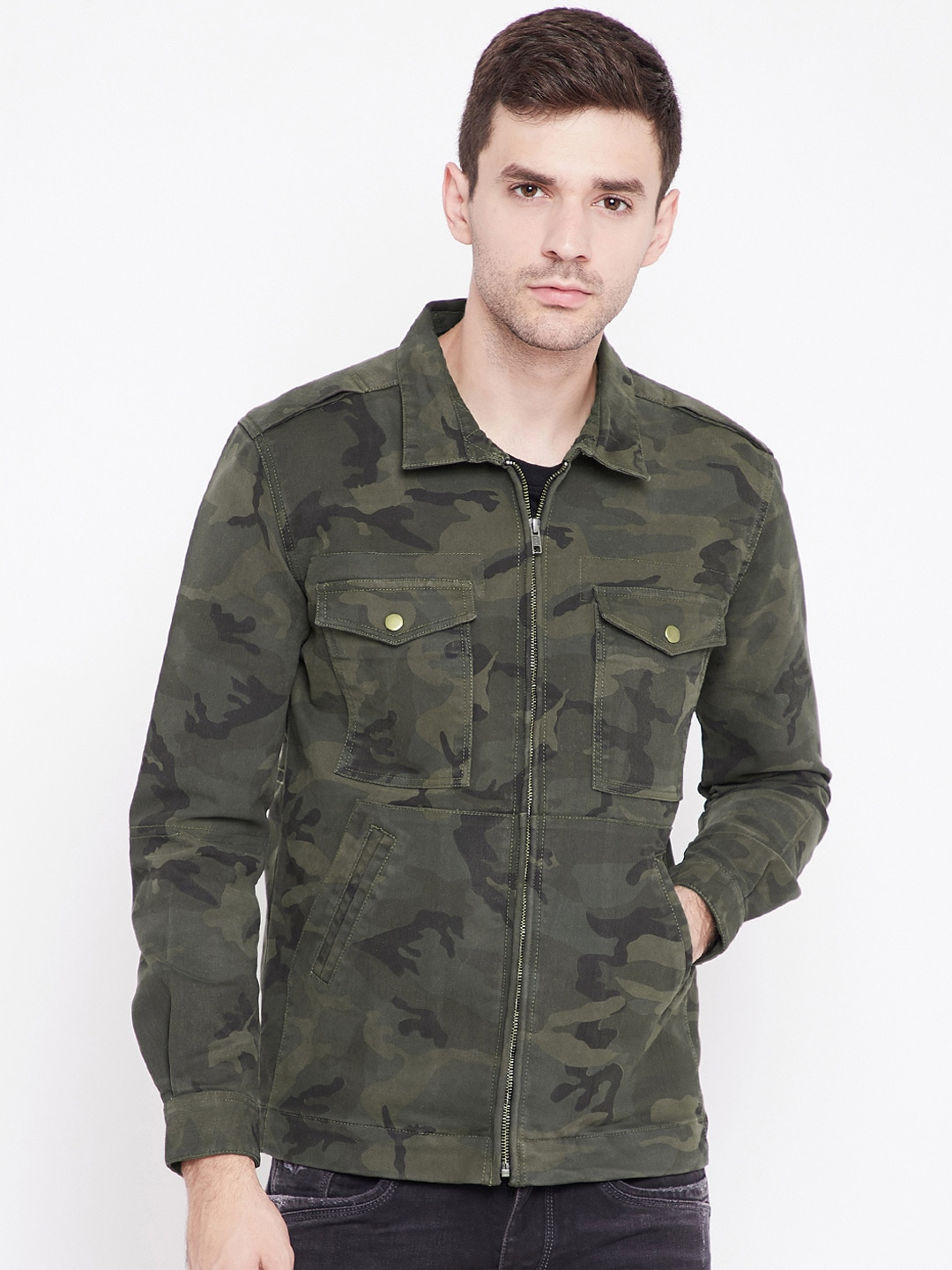 602b54c5b0692 Buy Wildcraft Olive Green Camouflage Print Utility Cao Utility ...