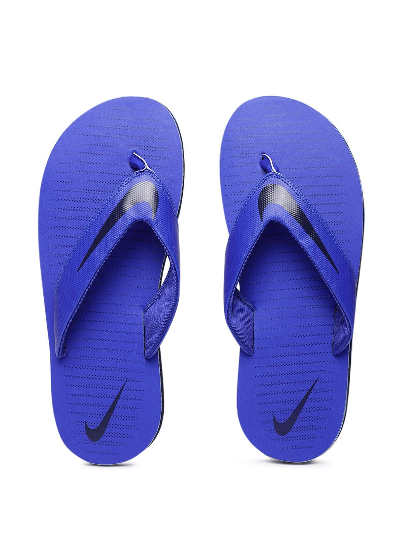 huge selection of 8f120 22d4a Nike Blue Solid Thong Flip Flops men