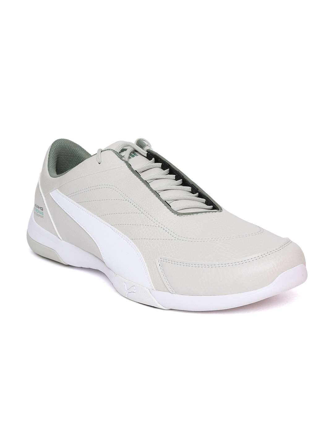 60e07a425d6 Buy Puma Men Grey Mercedes AMG Petronas Court Perforated Leather ...