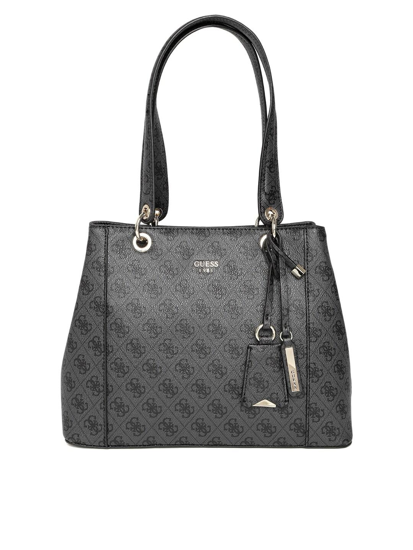 c354f896e2ab Buy GUESS Black Printed Shoulder Bag - Handbags for Women 8113111 ...
