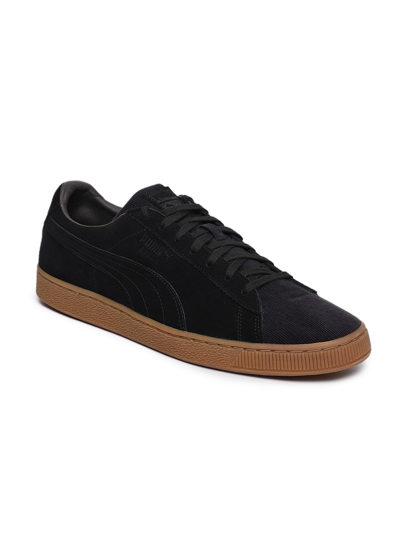 3bccaba2beda Buy Puma Unisex Basket Classic Weatherproof Black Sneakers - Casual ...