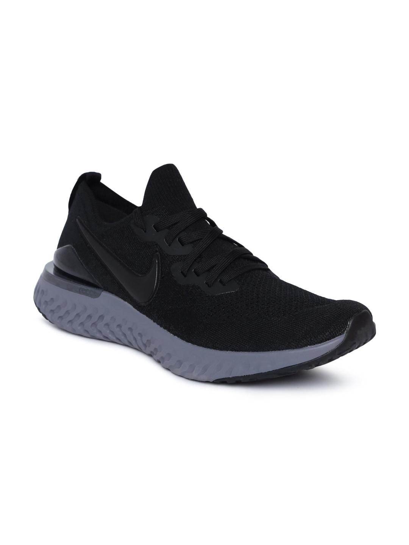 4c1808beeaa6 Buy Nike Men Black EPIC REACT FLYKNIT Running Shoes - Sports Shoes ...