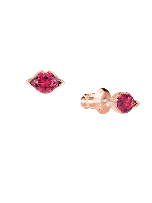 c216a77dc Buy SWAROVSKI Rose Gold Plated & Black Floral Latisha Pierced ...