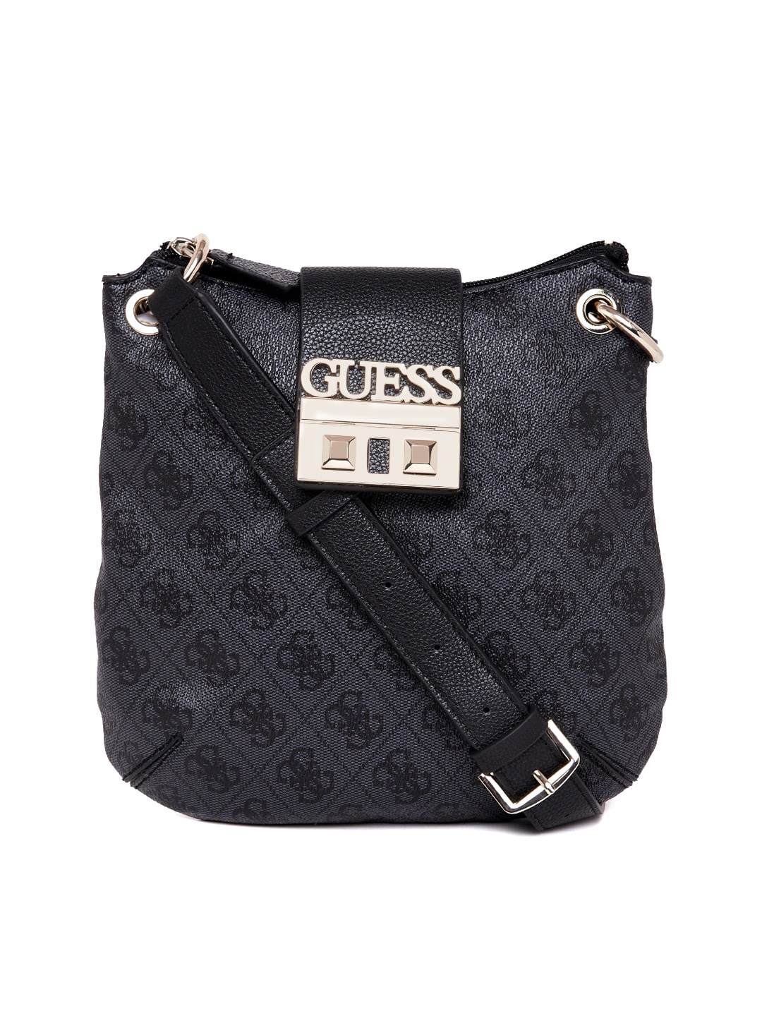 4fb9f8a9e987 Buy GUESS Olive Green Textured Sling Bag - Handbags for Women ...