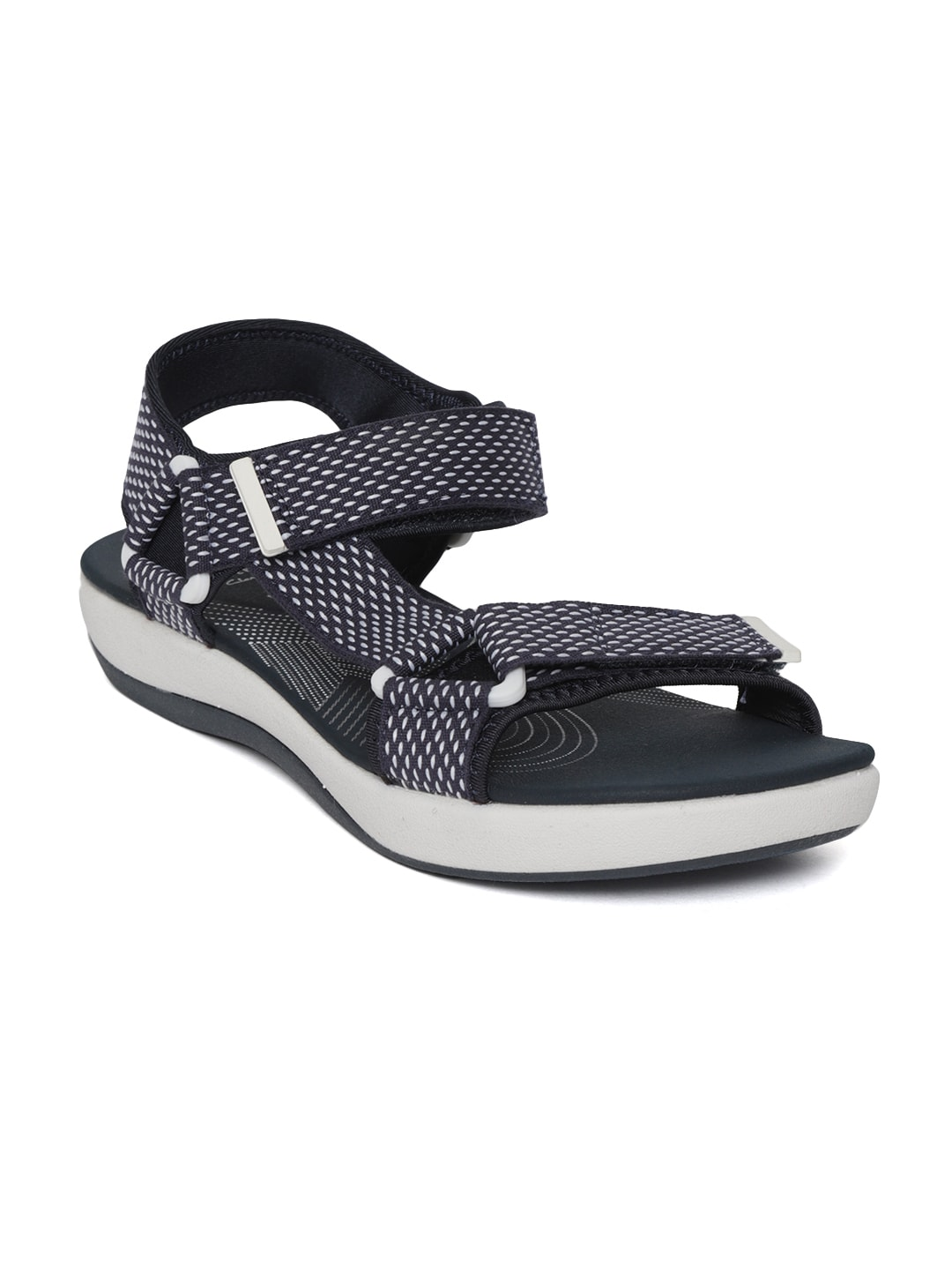a97004818bce Clarks Arla Marina Navy Blue Sandals for women - Get stylish shoes ...