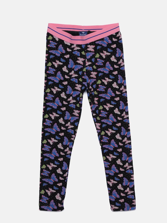 49a7458af Buy 612 League Girls Navy Blue Printed Detail Leggings - Leggings ...