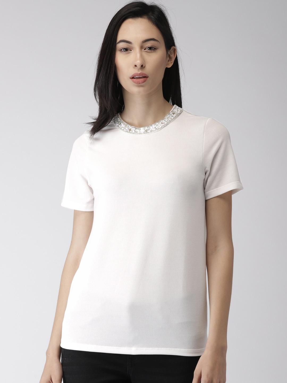 1178b537633c1 Buy FOREVER 21 Women Black   White Striped Off Shoulder Crop Top ...