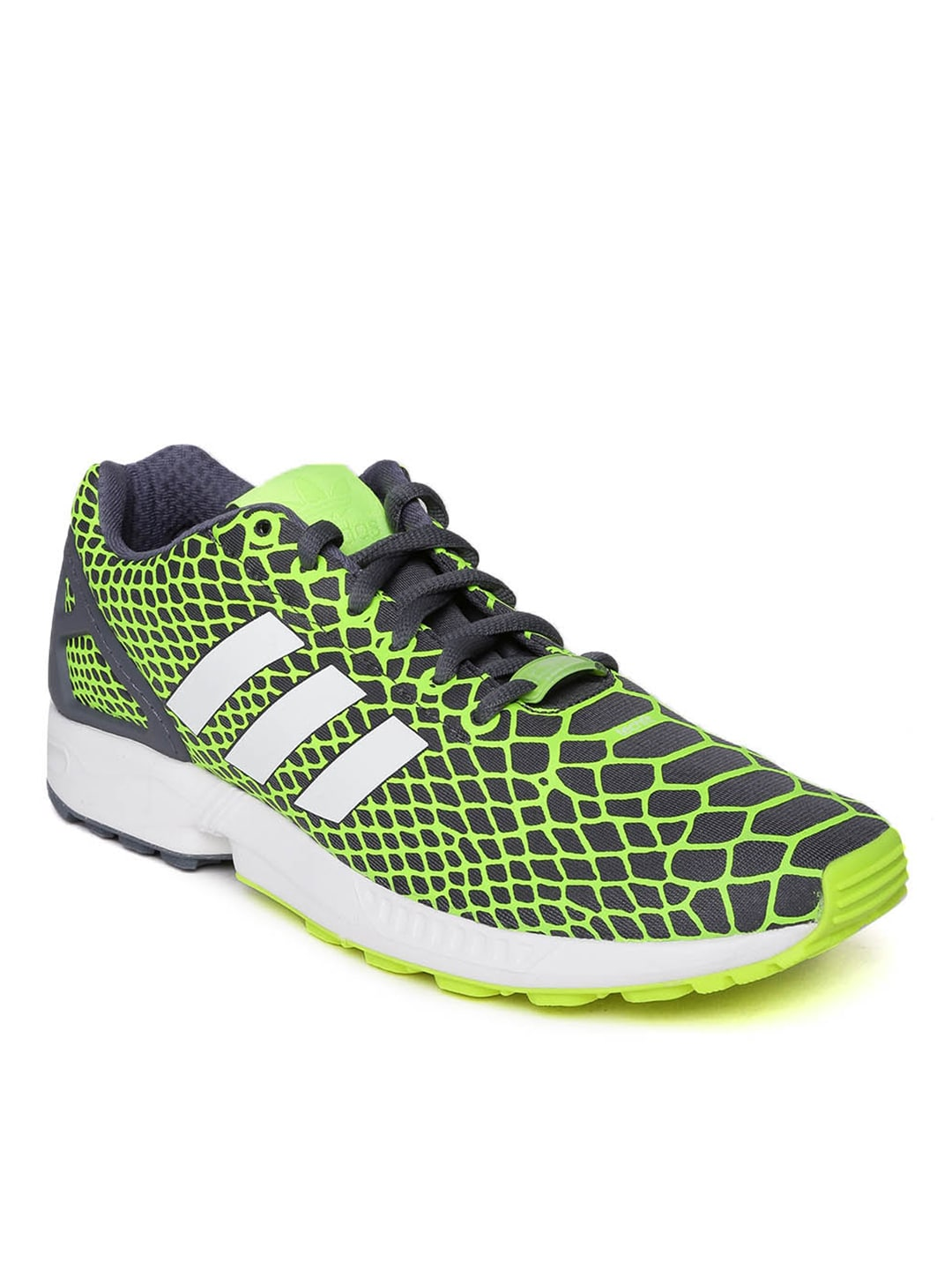 bb7bf9933 Adidas originals b24934 Adidas Men Grey And Neon Green Printed Zx Flux  Techfit Casual Shoes- Price in India