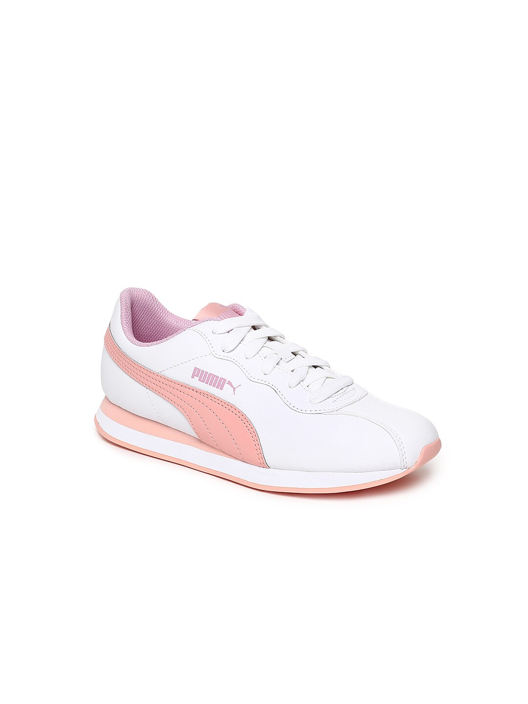 87e154e21c1e Puma Whitley Jr White Sneakers for girls in India - Buy at Lowest ...