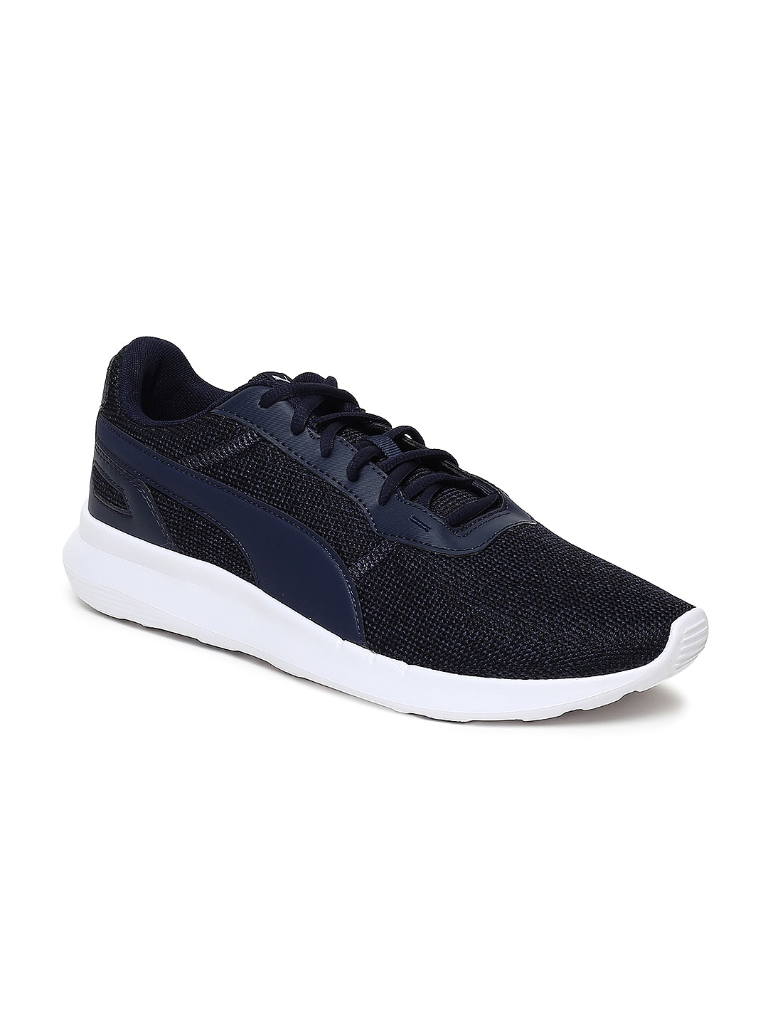 Buy Puma Unisex Black Textile Wired Knit Mid Top Running Shoes ... ba9c8aa04