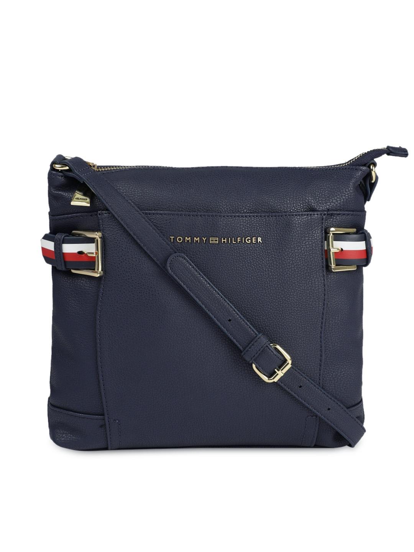 4001ef540e6 Buy Tommy Hilfiger Women Navy Blue Solid Tote Bag - Handbags for ...