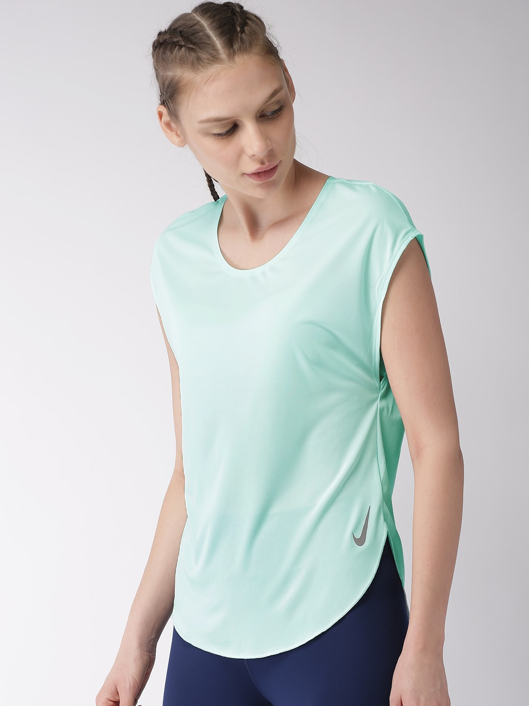7218a90be00 Buy ADIDAS Women Sea Green Adapt Running Top - Tops for Women ...