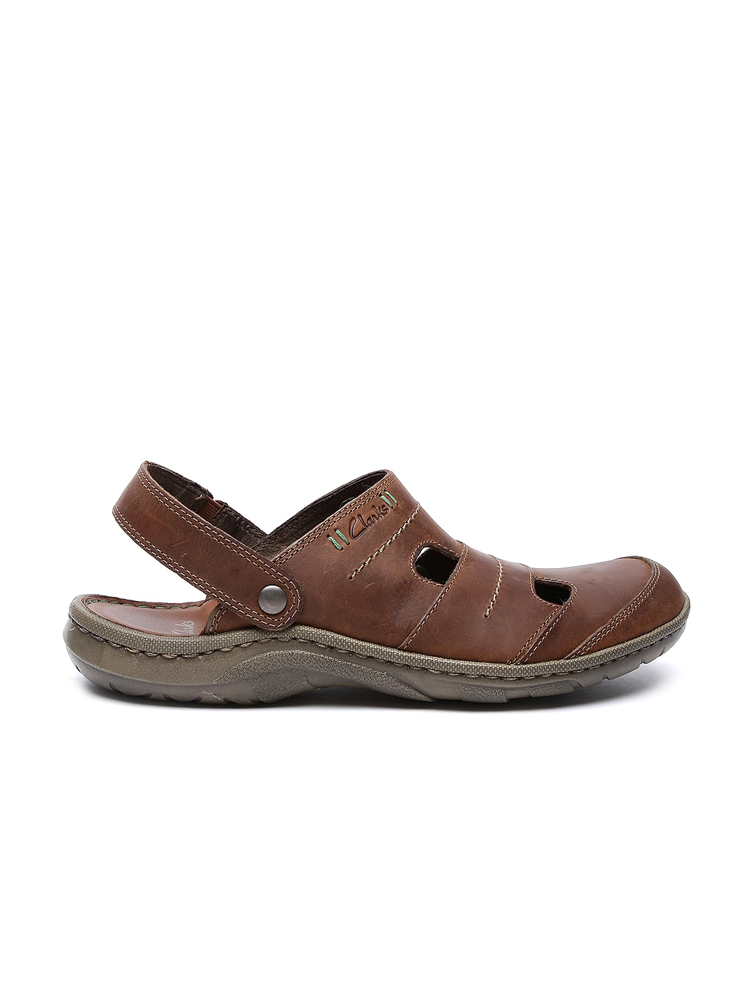 bf5e63360 Clarks 91261128857 Men S Woodlake Creek Brown Leather Sandals And ...