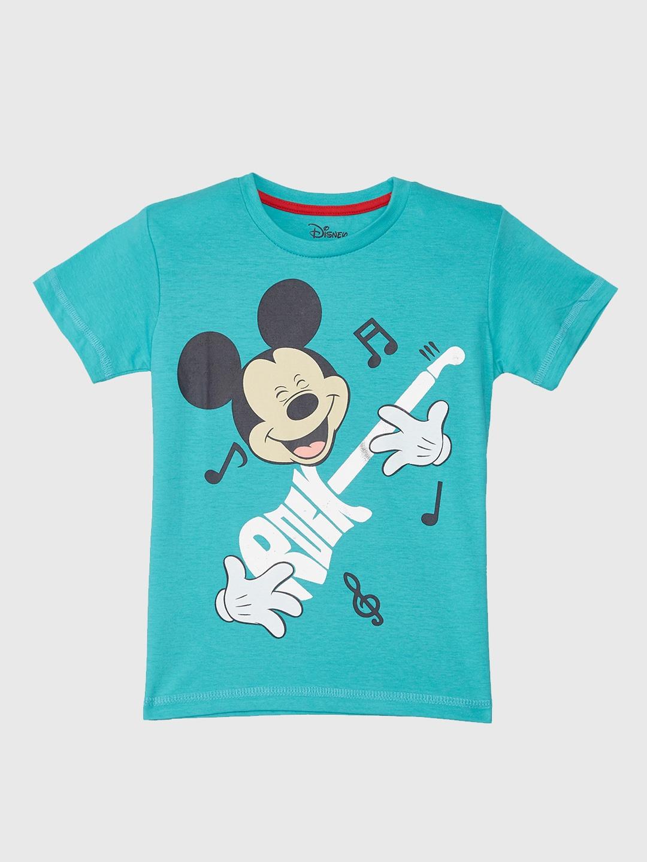 Buy Mickey & Friends Boys White Printed Round Neck T Shirt