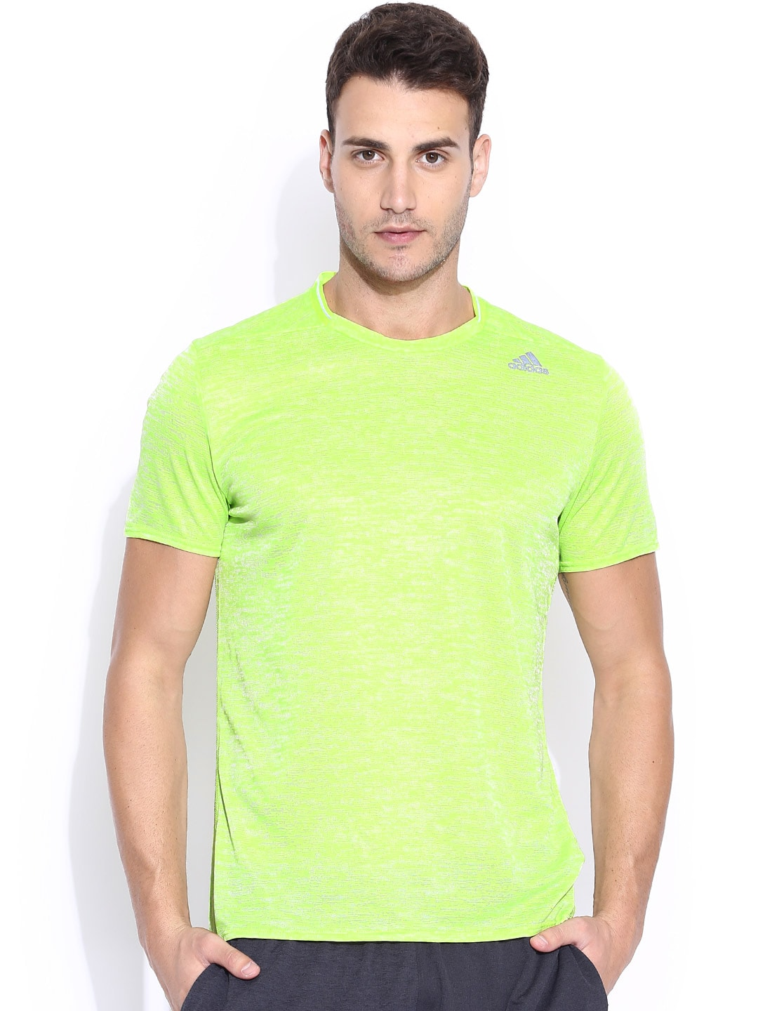 Prijs shirt Adidas Aa2349 Beste T India Neon Running Green In wNnm80v