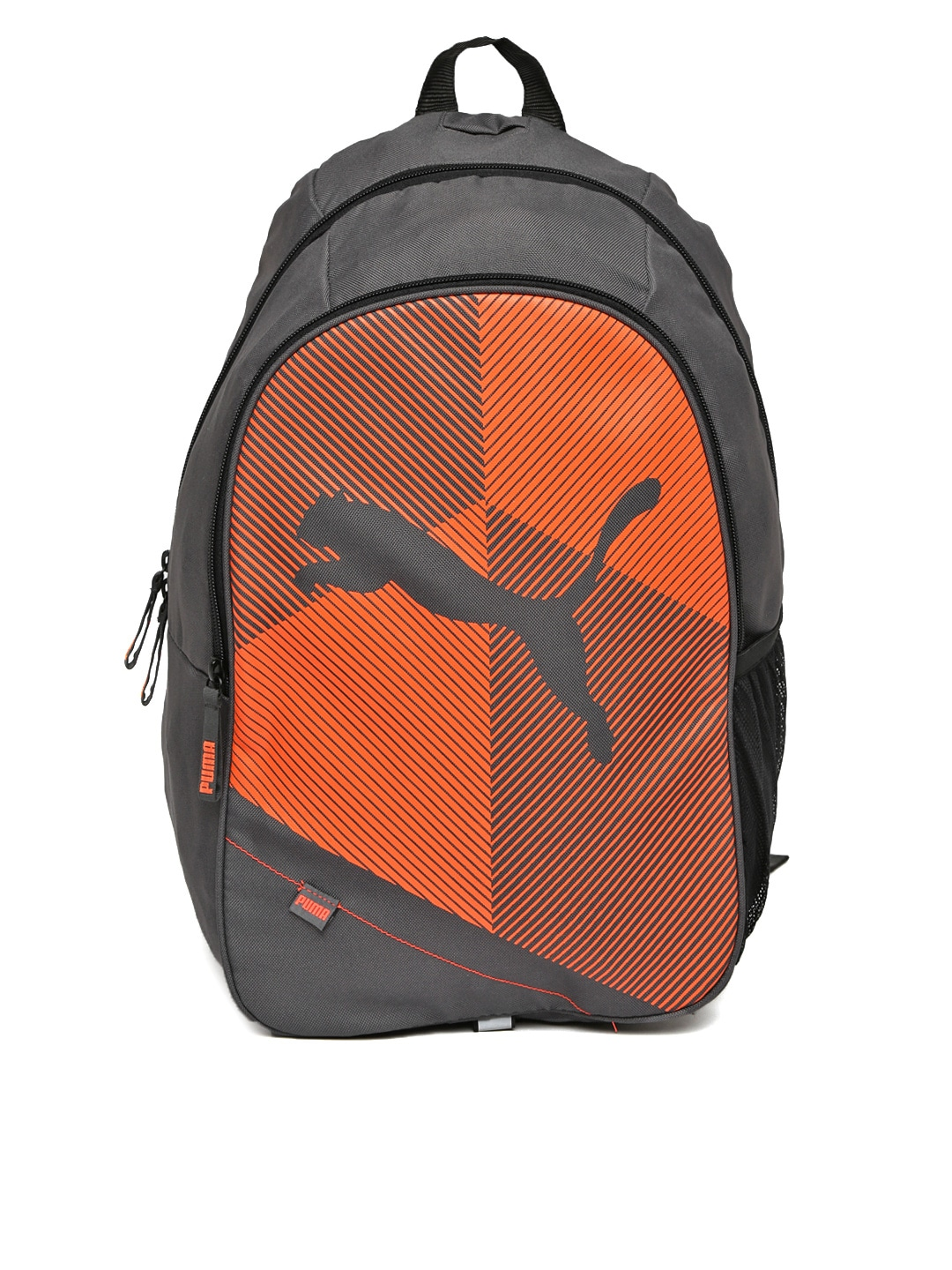 Puma 7171204 Unisex Echo Plus Grey And Orange Backpack- Price in India a7fb88ee982a3