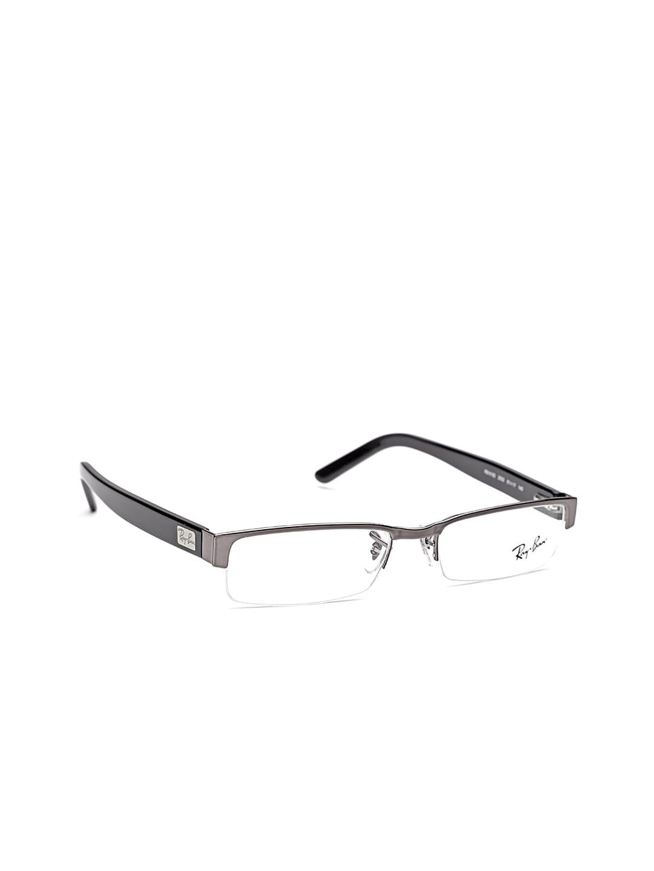 94d97cbd3e Ray ban 0rx6182i250251-gunmetal Unisex Gunmetal Toned Rectangular Half Rim  Frames 0rx6182i250251- Price in India