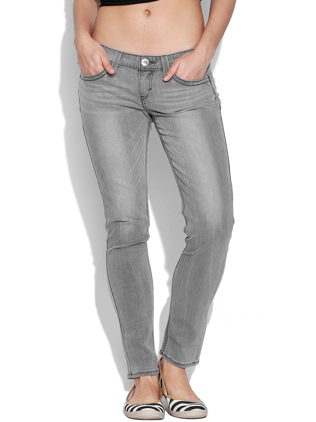 Levis 15436-0028 Grey Skinny Fit Jeans- Price in India