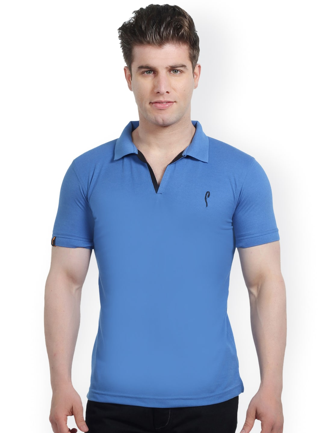 b4ef8c34392 Stride 4001-airforceblue Blue Slim Fit T Shirt - Best Price in India ...