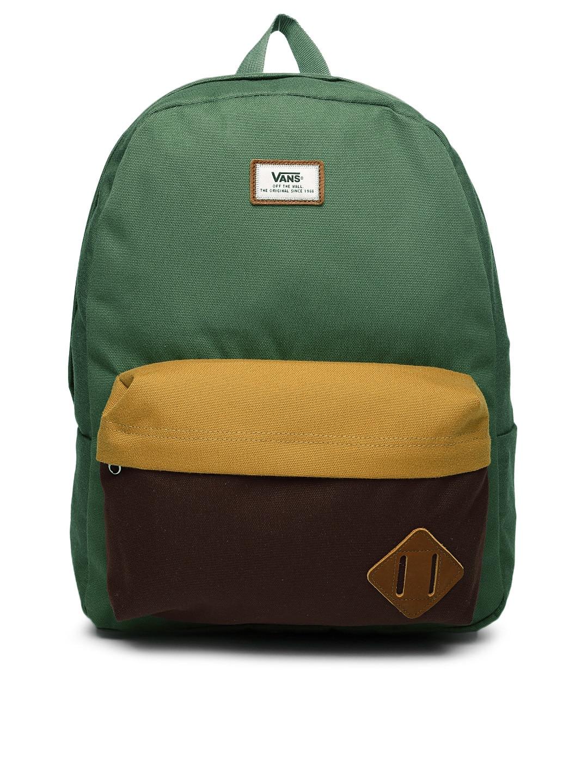 281656025e Vans vn-0onih3u Unisex Green And Mustard Yellow Old Skool Ii Backpack-  Price in India