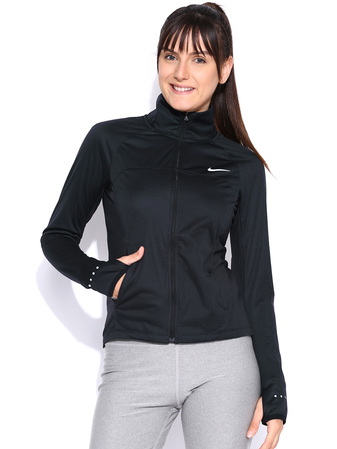 3f6c25e98a99 Nike 686878-010 Black Jacket - Best Price in India
