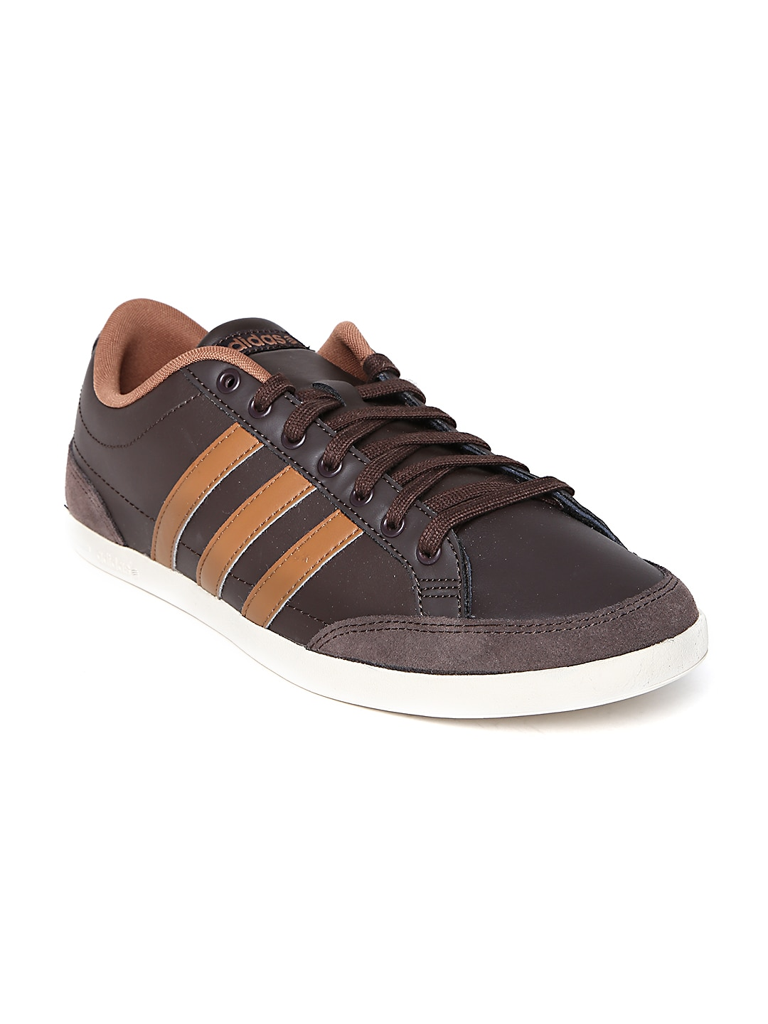 in stock d79c2 6158e Adidas neo f98434 Men Brown Caflaire Lo Leather Sneakers- Price in India