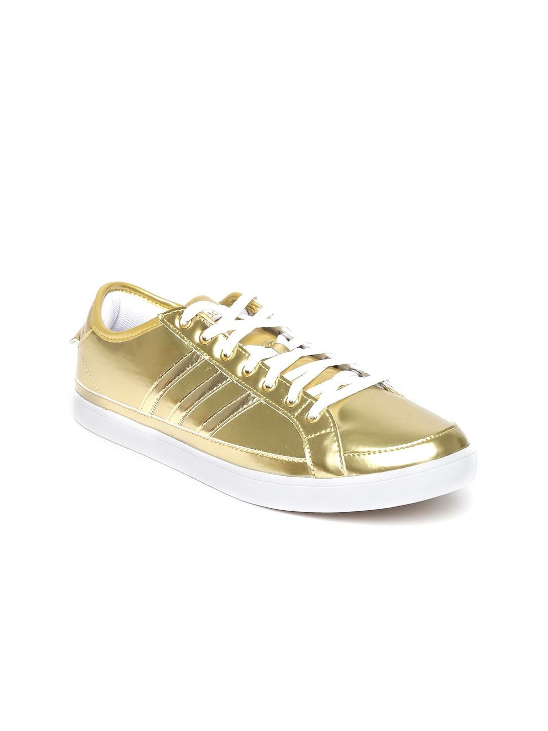 buy popular 36152 18865 Adidas Neo Women Gold Toned Park Lx Glossy Leather Sneakers