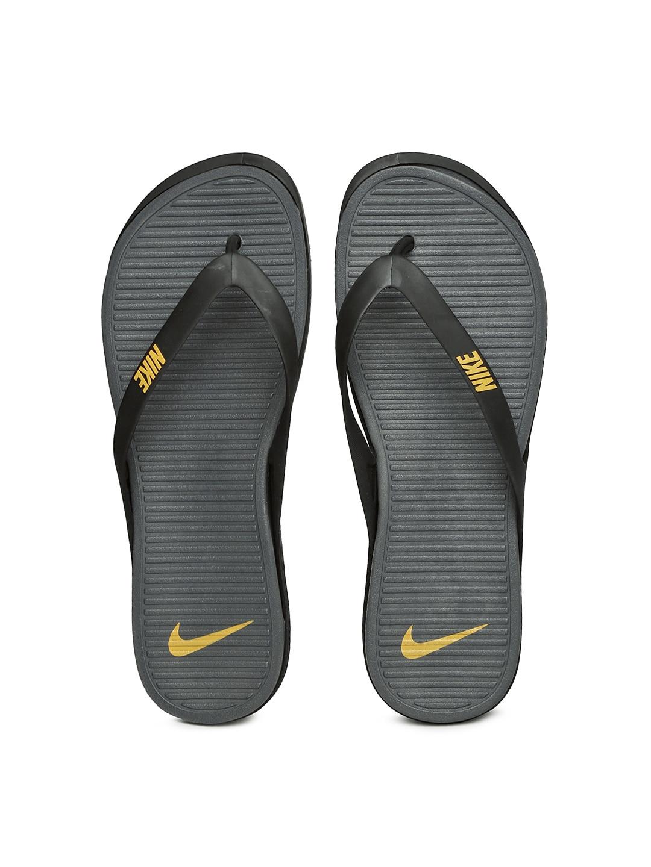 promo code 27212 ea030 Nike 603731-015 Men Black And Grey Matira Thong Flip Flops